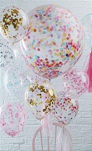 Balão Confete com 10 unidades