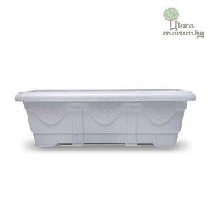 JARDINEIRA PLASTICA 50 CM - MARMORE