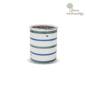 VASO CR SIMPLE LINES GD 18X15D AZUL/BRANCO