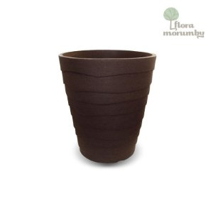 VASO ITALIA ONDULATTO JVIOK 60CM CAFE