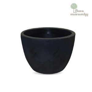 VASO VERONA 70X52CM ANTIQUE PRETO