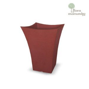 VASO QUADRADO  WAVE 30 JVWQV TERRACOTA
