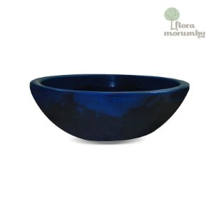 FLOREIRA VERONA OVAL 80x22CM ANTIQUE AZUL