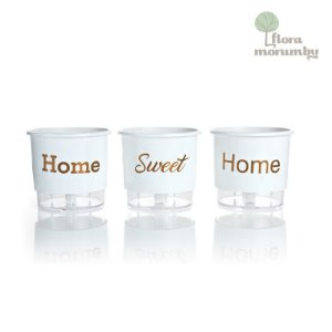 VASO AUTOIRRIGAVEL N2 KIT HOME SWEET HOME - BRANCO