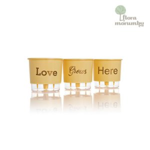 VASO AUTOIRRIGAVEL N2 KIT LOVE GROWS HERE - PESSEGO