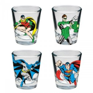 Copos de Vidro Dose Good Boys DC Comics (Set c/ 4)
