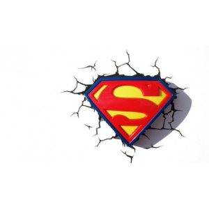 Luminária 3D Logo Superman