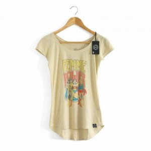 Camiseta Feminina Baby Look DC - Femme Power