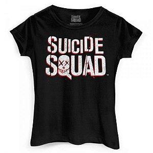 Camiseta Fem. Baby Look Esquadrão Suicida - Logo