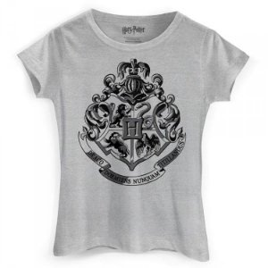 Camiseta Feminina Baby Look Harry Potter - Hogwarts