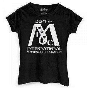 Camiseta Feminina Baby Look Harry Potter - Ministério da Magia