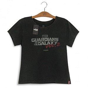 Camiseta Feminina Marvel Guardiões da Galáxia Logo Vol. 2