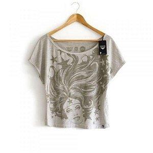 Camiseta Feminina Mulher Maravilha Hair
