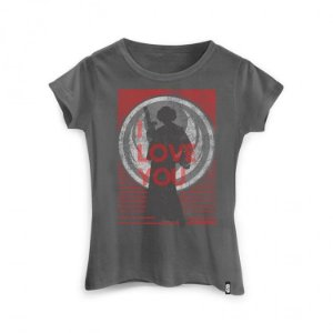 Camiseta Feminina Star Wars - Leia I Love You