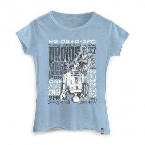 Camiseta Feminina Star Wars - Tour Droids
