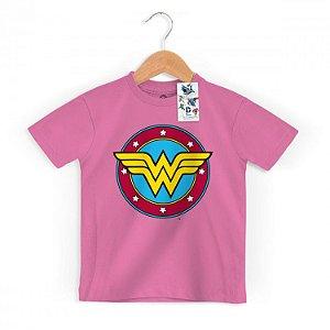 Camiseta Infantil DC - Mulher Maravilha Logo