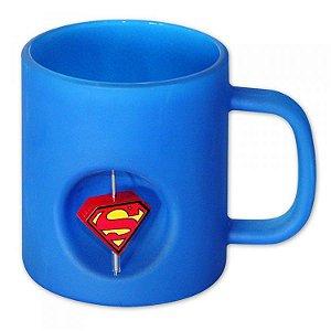 Caneca Vidro 3D Super-Homem Azul DC Universe
