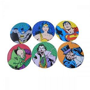 Porta Copos DC - Personagens Coloridos (jogo com 6 unidades)