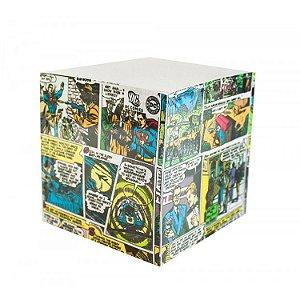 Bloco de Anotação Cubo DC - Quadrinhos Coloridos