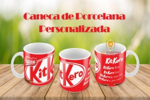 Kit Kero Caneca de Porcelana Personalizada