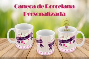 Feliz dia das Mães Caneca de Porcelana Personalizada