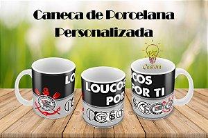 Corinthians Caneca de Porcelana Personalizada