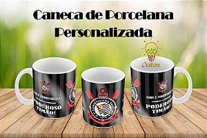 Caneca de Porcelana Personalizada Corinthians