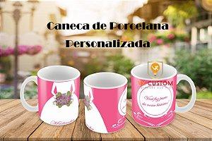 Presente para Padrinhos de Casamento Caneca de Porcelana - Santo André
