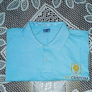 Camiseta Polo Piquet Bordada Personalizamos com o seu Logotipo