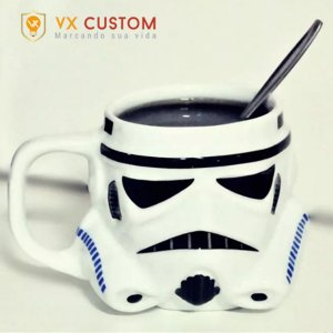 Caneca de Porcelana Storm Trooper 3D Star Wars