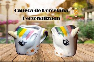 Caneca de Porcelana Unicórnio 3d