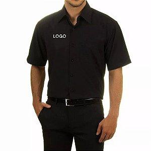 Camisa Social manga Curta Bordada Uniforme