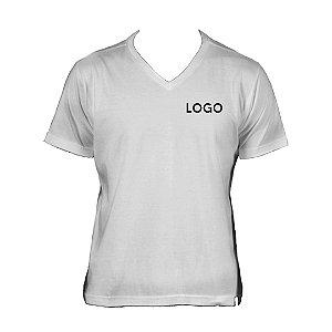 Camiseta Gola V 100% Algodão Fio 30.1 penteado