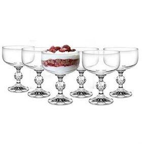 Taça de Cristal Bohemia  Sobremesa 200ML Klaudie Caixa  c/6