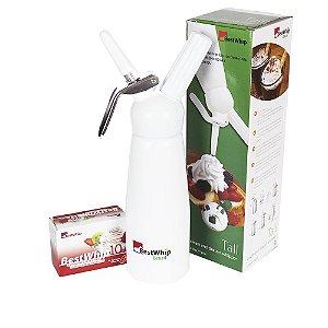 Sifão Branco Garrafa de Chantilly 500 ml GÁS BESTWHIP