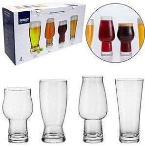 Kit 4 Copos Cristal Para Cervejas Gourmet - Copo Oficial