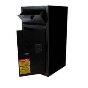 Cofre Smart Store Security 6800 Black - Com Boca de Lobo e Fechadura de Retardo