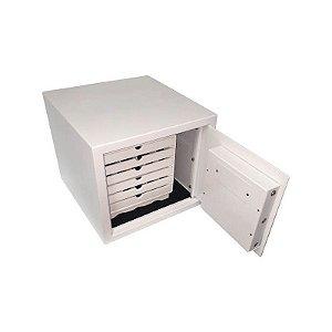 Cofre para Jóias Eletrônico Empresarium 6 Gavetas