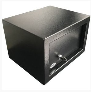 Cofre mecânico Personal Black com Chave Multi-Ponto - Cofres Gold Safe