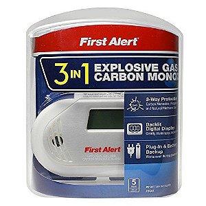 Detector de gás explosivo e alarme de monóxido de carbono – First Alert