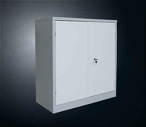 Armário Secretaria 2 portas PA-1000 c/ 1 prateleira fixa #26 (90x90x40 cm) - cinza