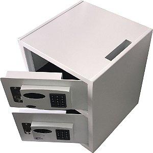 Cofre Eletrônico Boca de Lobo Com Duas Portas E Fechadura Dobermann-Mod MC Duplo