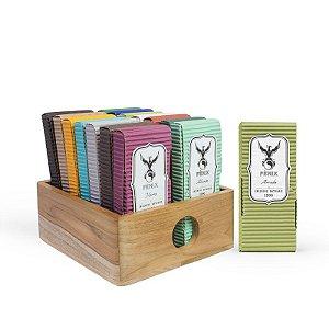 Kit Incensos Artesanais c/ 15 caixas + Caixa organizadora TECA