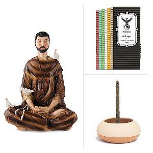 São Francisco + 7 incensos mais vendidos + Incensário de Cerâmica