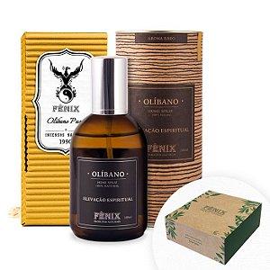 Kit Elevação Espiritual - Incenso e Home Spray de Olíbano + Caixa para Presente