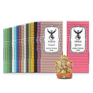 Kit Incensos Artesanais c/ 17 caixas - Todos os aromas + Ganeshinha