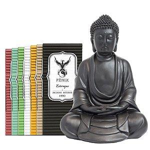 Buda Meditando Fosco + 7 Incensos