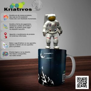 Caneca Astronauta com Realidade Aumentada