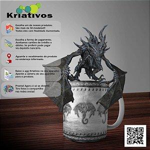 Caneca Dragão Medieval com Realidade Aumentada