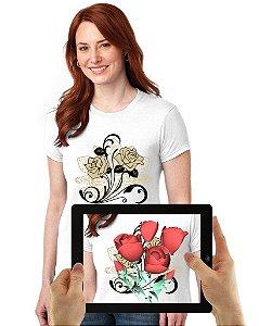 Blusinha de Flores com Realidade Aumentada